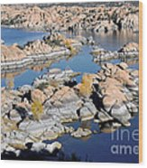 Watson Lake And The Granite Dells Wood Print