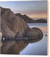 Watson Lake Arizona Colors Wood Print