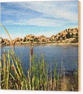 Watson Lake Arizona Wood Print