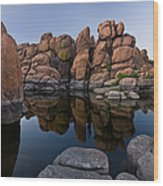 Watson Lake Arizona Reflections Wood Print by Dave Dilli
