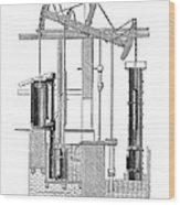 Watts Steam Engine, 1769 Wood Print