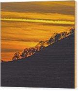 Watts Valley Sunset Wood Print