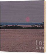 Waubaushene Sunset Wood Print