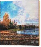 Waughop Lake Wood Print
