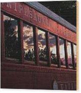 Waukewan Train Wood Print