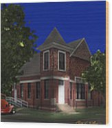 Waurika Presbyterian Church Wood Print