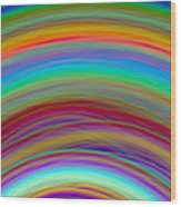 Wave-06 Wood Print