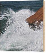 Wave Action Florianopolis Wood Print