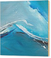 Wave Action Wood Print by Michelle Wiarda