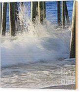 Wave Art 10 Wood Print