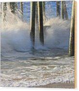 Wave Art 9 Wood Print