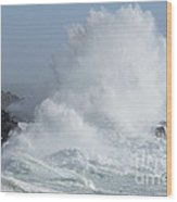 Wave At Salt Point Wood Print