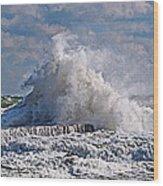 Wave Blow Wood Print