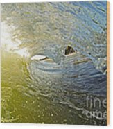 Wave Cave Wood Print by Paul Topp
