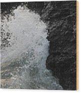 Wave Crash Wood Print