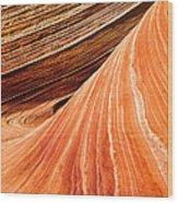 Wave Lines Wood Print