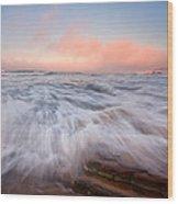 Wave On Wave Wood Print