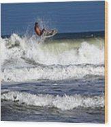 Wave Rider Wood Print