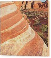 Wave Rocks Wood Print by Jane Rix