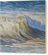 Wave2 Wood Print
