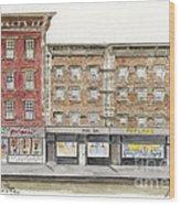 Waverly Diner In Greenwich Village Wood Print