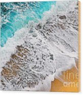 Waves Abstract Wood Print