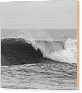 Waves Along The Shore Wood Print