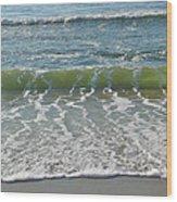 Waves At 7 Am Wood Print