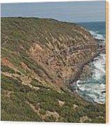 Waves At Cape Schank Wood Print