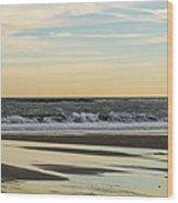 Waves At Old Orchard Wood Print