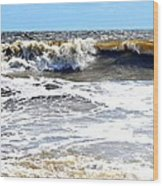 Waves At Tybee Wood Print