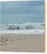 Waves At Vero Beach Fl Wood Print