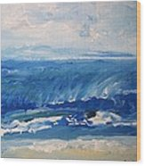 Waves At West Cape May Nj Wood Print