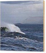 Waves In Easkey 2 Wood Print by Tony Reddington