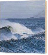 Waves In Easkey 4 Wood Print by Tony Reddington