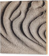 Waves Of A Desert - Mesquite Sand Dunes Wood Print