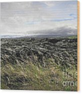 Waves Of Clouds Sea Lava And Grass Wood Print