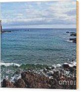 Waves Of Hawaii Wood Print