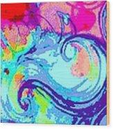 Waves Of His Love Wood Print