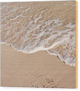 Waves On The Beach Wood Print