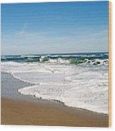 Waves On The Beach Wood Print