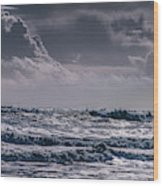 Waves, Reynisfjara, South Coast, Iceland Wood Print