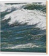 Waves Triptych Ll Wood Print