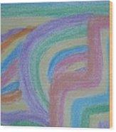 Waving Colors Wood Print