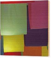 Waving The Color Wood Print