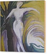 Waving Yellow Wood Print