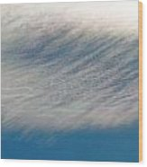 Wavy Iridescent Clouds Wood Print