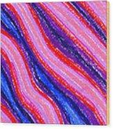 Wavy Oil Pastel Wood Print by Hakon Soreide