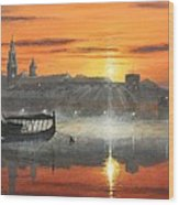 Wawel Sunrise Krakow Wood Print