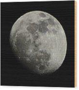 Waxing Gibbous Moon Wood Print